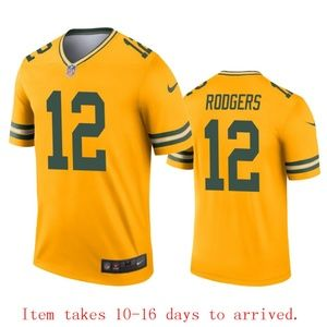 Green Bay Packers Aaron Rodgers Jersey Inverted